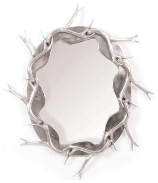 Modern And Trendy Inspired Antler Wall Mirror 16216.