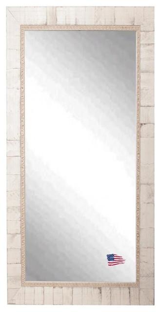 "Rayne Mirrors Home Decorative Tuscan Ivory Floor Mirror 29.5""x64.5""."