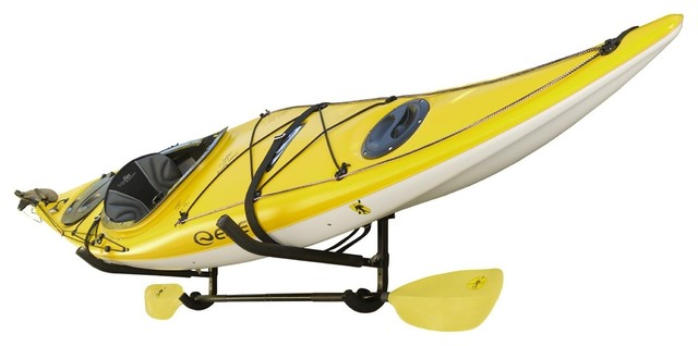 Genial Wall Mount Kayak Storage Rack With Paddle Holder