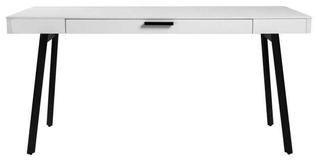 Hart Desk, White Melamine