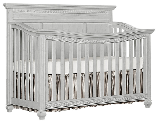 Evolur Madison 5 in 1 Flat Top Convertible Crib, Antique Gray Mist