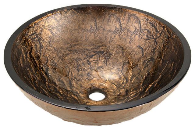 "17"" Vessel Sink, Cobalt Copper"