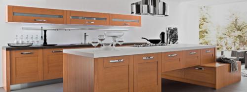 Cucina in ciliegio: colore del top