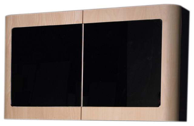 Aeri Double Door Medicine Cabinet With Mirror Doors And Two Shelves.