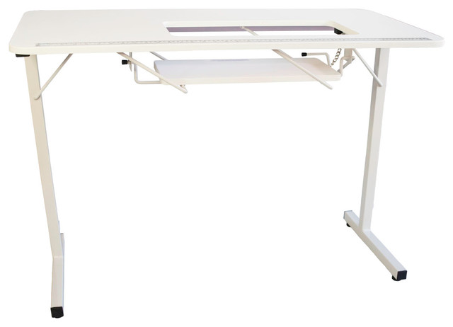 Sewingrite Foldable Sewing Craft Hobby Table With Storage Shelf.