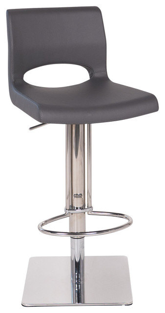 Shop Houzz Joseph Allen Pierce Hydraulic Bar Stool Grey