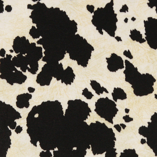 Black And White Cow Microfiber Stain Resistant Upholstery Fabric By