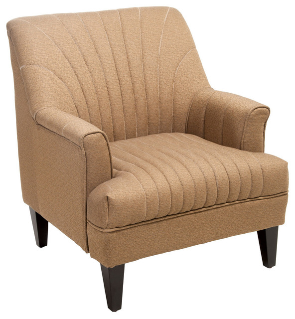 Lynette Channel Fabric Club Chair Midcentury Armchairs