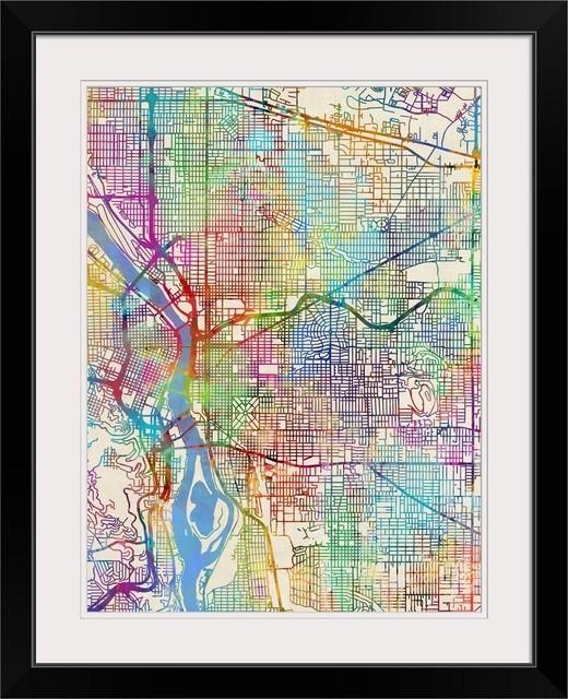 City Map Of Portland Oregon on