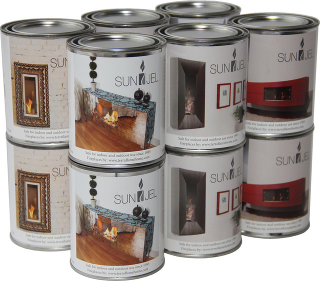 Sunjel Gel Fuel Cans, 12-Pack.