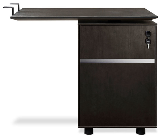 300 Series Return and File Espresso - Transitional - Filing Cabinets - by Sleek Modern Furniture