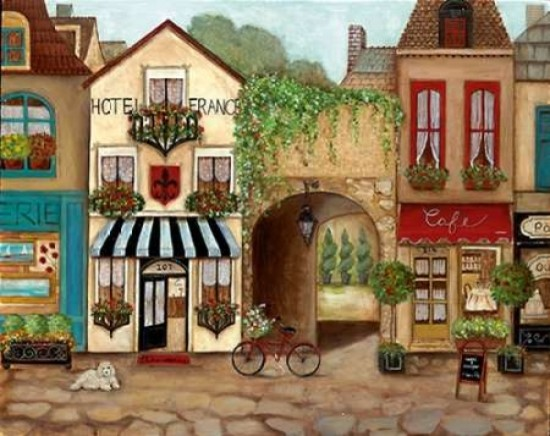 Quot French Hotel Quot Print Contemporary Prints And Posters