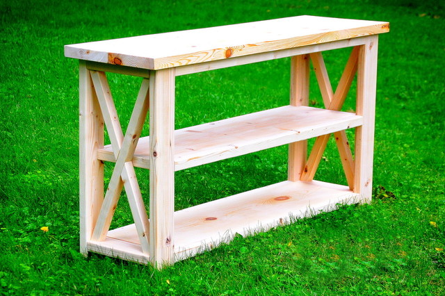 rustic x entryway table - rustic - console tables - other - by
