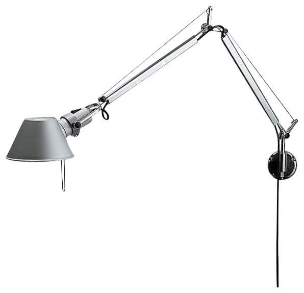 Wall Mounted Work Lamps : Shop Houzz Artemide Tolomeo J Bracket INC Classic Aluminum - Wall Lighting