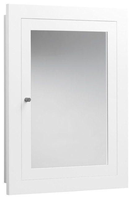 Ronbow Frederick 24 Quot X32 Quot Solid Wood Framed Bathroom Medicine Cabinet White Contemporary