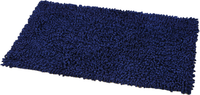 Soft Shaggy Loop Bath Mat Shower Rugs 29 5 X17 Blue Contemporary Bath Shaggy Loop