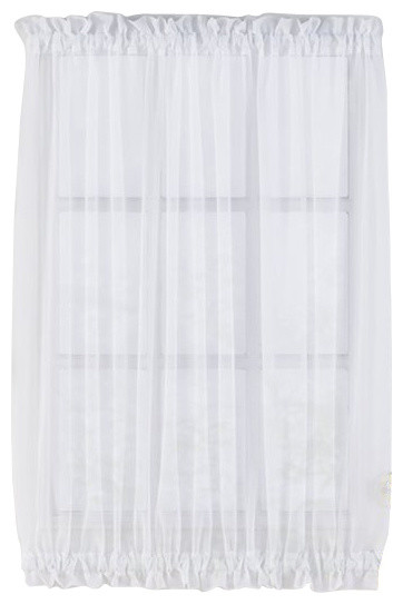 Sheer Voile Door Panels Curtains For French Doors White 40  Long  sc 1 st  Houzz & Sheer Voile Door Panels Curtains For French Doors - Traditional ...
