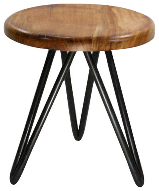 Cool Harpoon Wood And Iron Stool 15 X 16 Unemploymentrelief Wooden Chair Designs For Living Room Unemploymentrelieforg