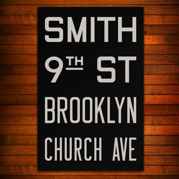 BROOKLYN New York City Subway Sign Bus Scroll 11 by FlyingJunction
