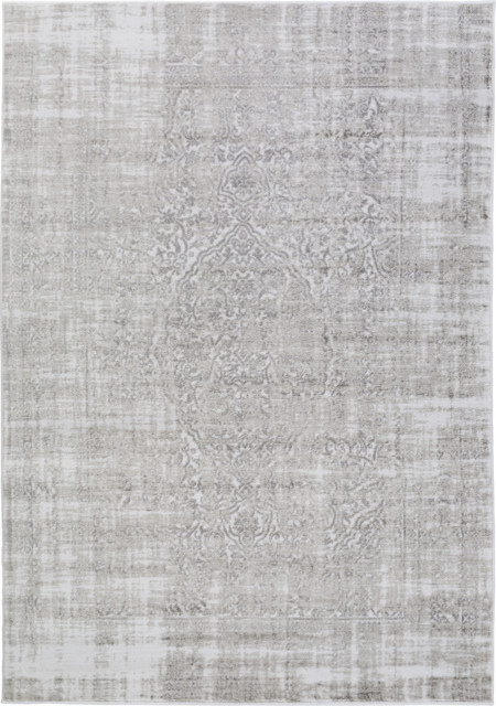 surya nova nva-3025 ivory, light gray rug - contemporary - area
