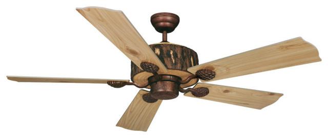 Log Cabin 52 In Bronze Wood Rustic Ceiling Fan Rustic Ceiling Fans By Hedgeapple