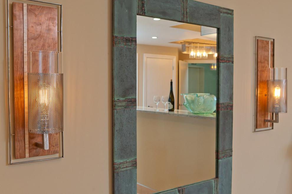 Home design - contemporary home design idea in Portland Maine
