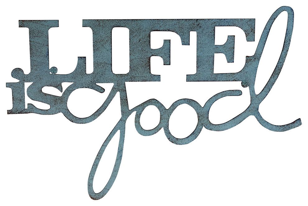 Metal Cutout Life Is Good Decorative Wall Sign Word Art By Lavish Home