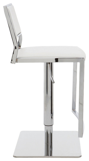 nuevo aaron adjustable bar stool contemporary bar