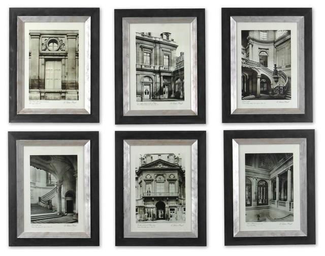 Uttermost Paris Scene Framed Art Set Of 6.