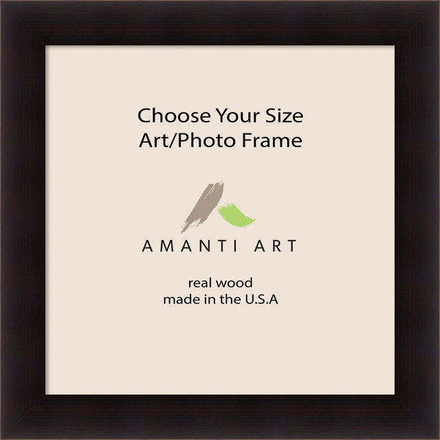 Art Photo Frame Portico Espresso 24x24 To 24x47 Contemporary