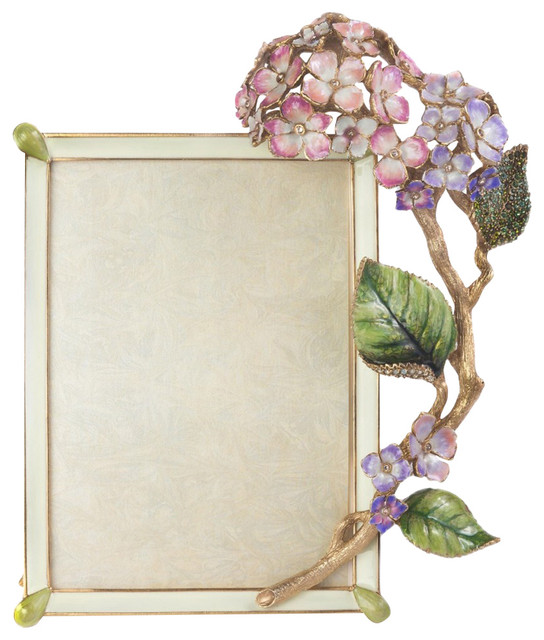 Jay Strongwater Gail Hydrangea Frame - Contemporary - Picture Frames ...