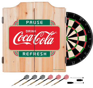 Cabinet Set With Darts and Board, Pause Refresh - Contemporary - Darts ...
