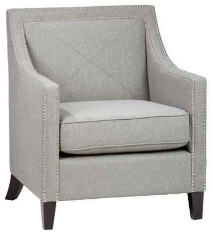 Etonnant Jofran LUCA CH ASH Abington Ash Accent Chair With Silver Nailheads