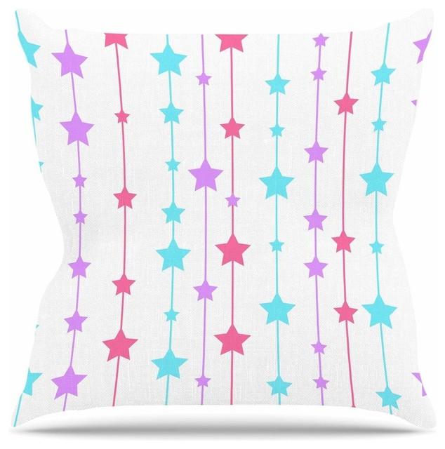 "NL Designs ""Pastel Stars"" Pastel Pattern Throw Pillow, 26""x26"""