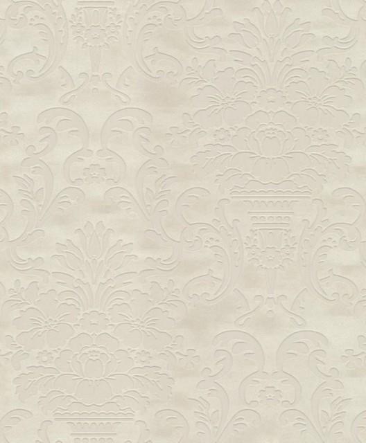 Caesar flock wallpaper cream pastels wallpaper by wallpaper worldwide - Cream flock wallpaper ...