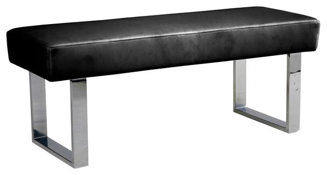 Armen Living   Amanda Bench  Black   Upholstered Benches. Modern Bedroom Benches   Houzz