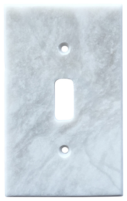 White Marble Meram Blanc Switch Plate Cover Toggle