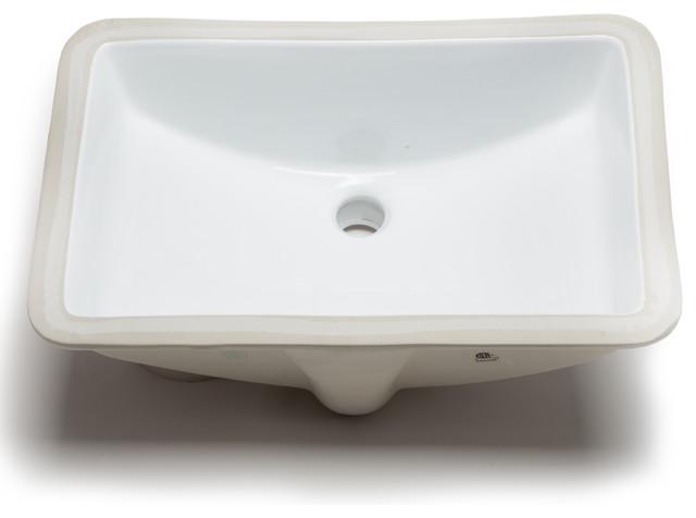 Hahn Hahn Ceramic Large Rectangular Bowl Undermount Bathroom Sink ...