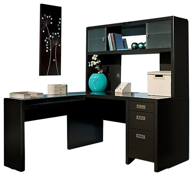 kathy ireland by bush new york skyline l shape desk with hutch office set in bush desk hutch office