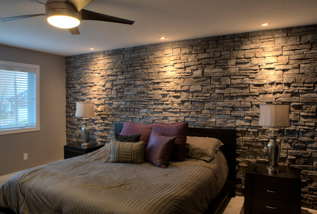 Fusion Great Lakes Stone Transitional Bedroom