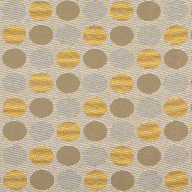 Beige Gold And Gray Polka Dots Indoor Outdoor Upholstery Fabric By ...