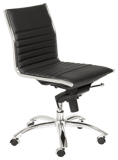 Dirk Armless Low Back Office Chair Black