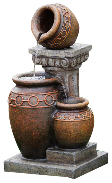 Jeco Inc Clic 3 Pot And Column Water Fountain