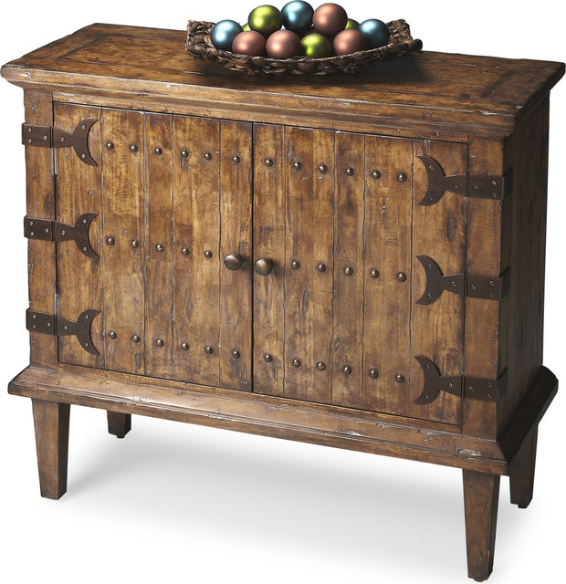 Butler Rustic Console Cabinet - Rustic - Accent Chests And ...