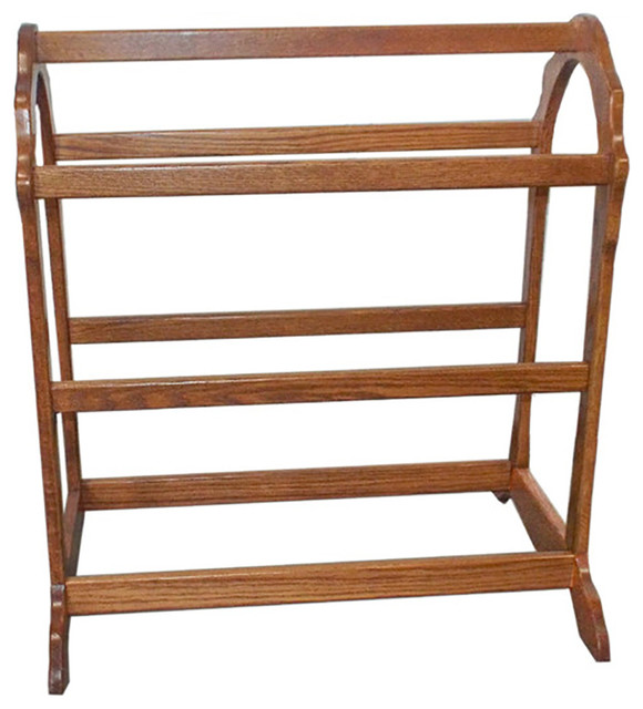 Solid Hardwood Amish Quilt Rack, Handmade Full Support, Almost Natural Stain.