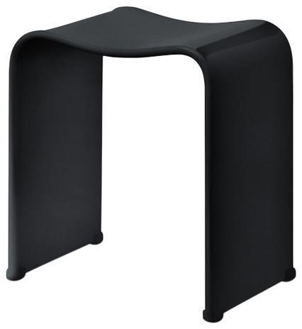 Fantastic Dw 80 Shower Stool In Black Acrylic Customarchery Wood Chair Design Ideas Customarcherynet