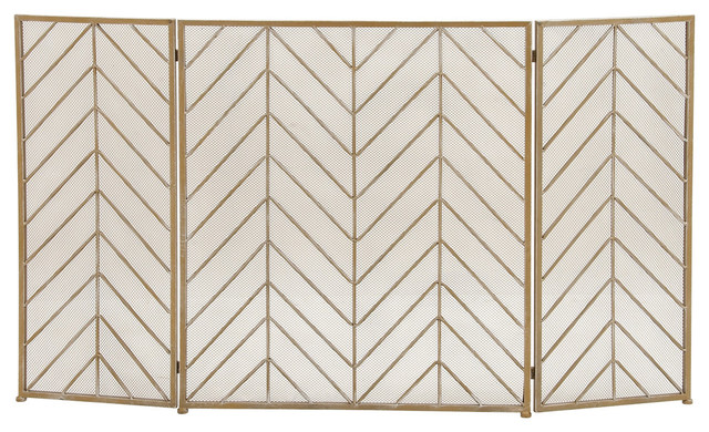 Durable Metal Fire Screen.
