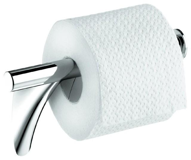 Axor 7-5/8 Wall Mount Toilet Tissue Holder, Polished Chrome.