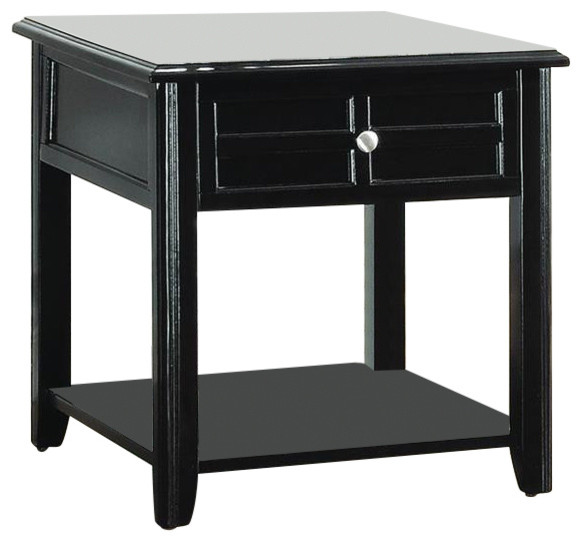 Homelegance carrier end table with functional drawer in for Functional side table