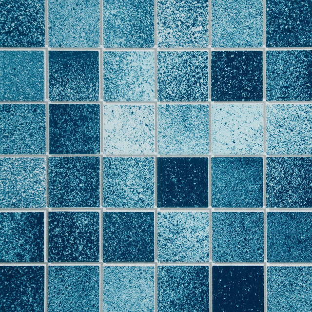 Self Adhesive Wall Paper blue mosaic - self-adhesive wallpaper home decor roll - wallpaper